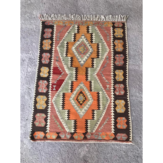 - This rug (kilim) is handwoven and made of 100% Natural materials. - Eco friendly and unique. No Chemical - Before...