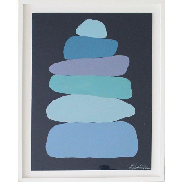 Stephanie Henderson Stephanie Henderson Cairn in Moody Blues Original Painting For Sale - Image 4 of 9
