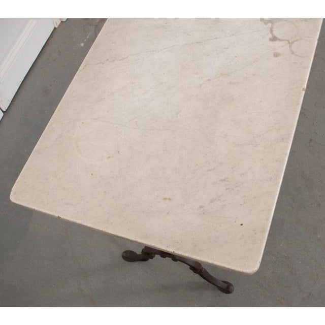 Early 20th Century French Early 20th Century Long Marble Top Bistro Table For Sale - Image 5 of 9