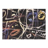 """Image of Jean Dubuffet Donnee H 10 27.5"""" X 39.25"""" Poster 1990 Abstract Multicolor Scribbles For Sale"""