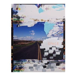 """Contemporary Abstract Photography and Paint on Wood """"Space Altamont"""" by Jason Engelund For Sale"""