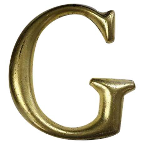"""Vintage English Pub Sign Letter """"G"""" - Image 1 of 3"""