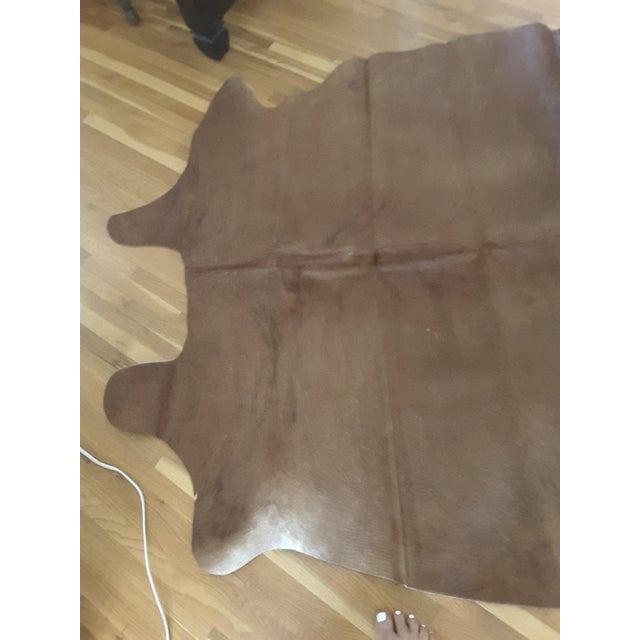 Argentinian Tan Cowhide Leather Rug - 5' x 7' - Image 3 of 5