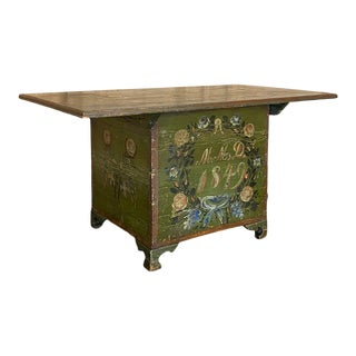 Louis Philippe Period Swiss Painted Coffee Table For Sale