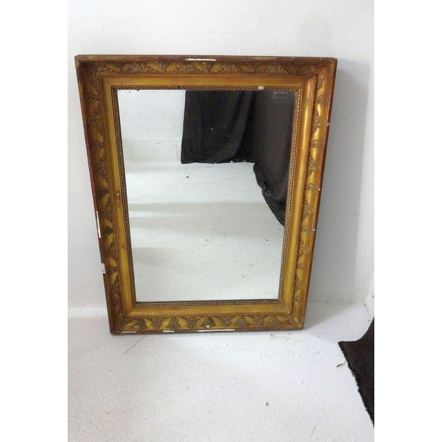 Glass Antique French Gilded Mirror For Sale - Image 7 of 7
