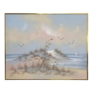 Vintage Lee Reynolds Seascape Oil on Canvas Painting For Sale