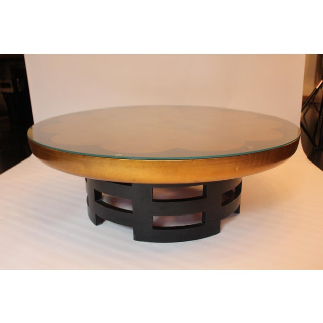 1950s 1950s Mid-Century Modern James Mont-Style Gilded Cocktail Table For Sale - Image 5 of 6
