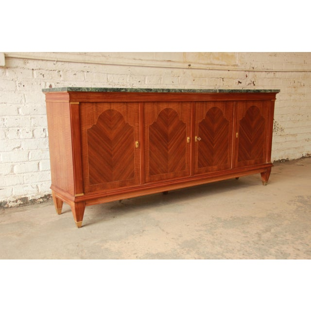 1940's French Mahogany & Marble Sideboard For Sale - Image 10 of 11