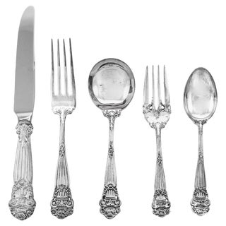 Georgian Sterling Flatware / Service for 12 '60 Pieces' For Sale