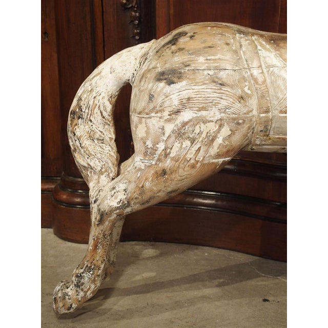 Antique Whitewashed Carousel Horse From Spain, Circa 1915 For Sale - Image 12 of 13