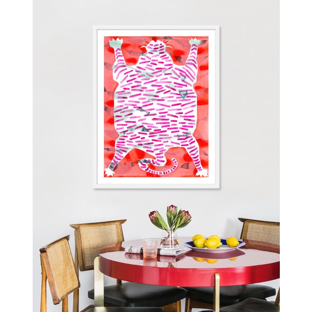 "Medium ""Tiger Rug"" Print by Kate Roebuck, 27"" X 35"" - Image 2 of 2"