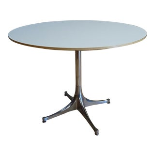 George Nelson Pedestal Side Table For Sale