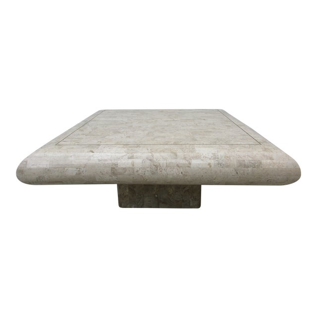 Tessellated Stone Coffee Table for Mission Furniture Los Angeles For Sale