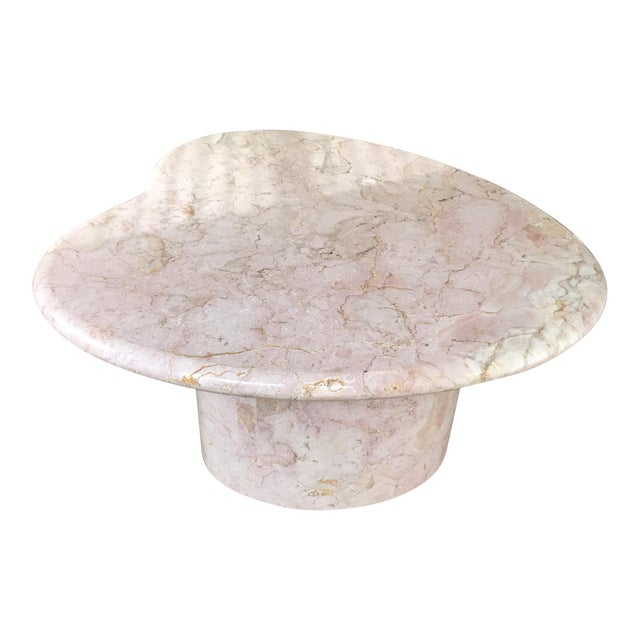 Vintage Pink Marble Coffee Table - Image 1 of 6