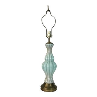 Murano Glass Table Lamp For Sale