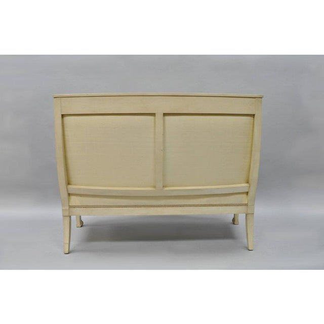 Gold Early 20th Century Vintage French Empire Style Settee For Sale - Image 8 of 11