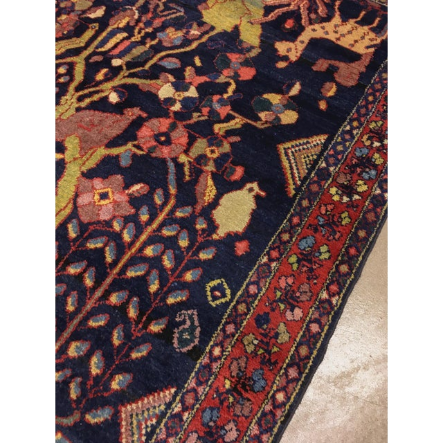 """1940s Antique Persian Lillihan Tree of Life Rug, 4'3"""" X 8'2"""" For Sale - Image 5 of 10"""