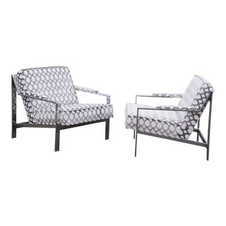 Cy Mann Flat Bar Armchair - a Pair For Sale