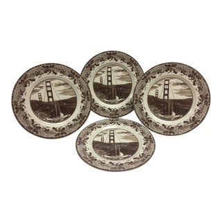 Historic America Dinner Plates - Set of 4 For Sale
