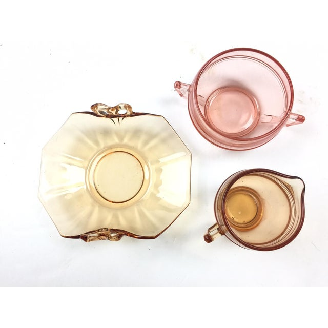 Vintage Depression Glass Coffee Set For Sale - Image 4 of 4