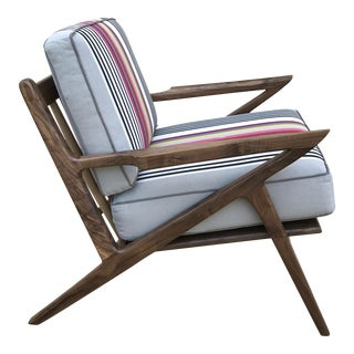 Danish Modern Grey Z-Chair For Sale