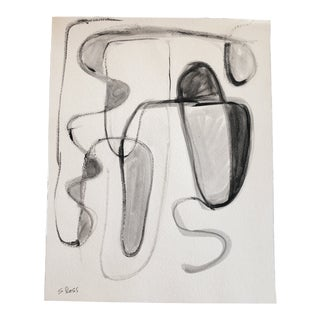 Original Contemporary Stewart Ross Abstract Painting on Paper For Sale