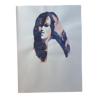 Abstract Female Profile Drawing For Sale