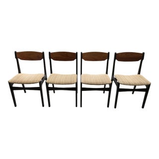 Mid-Century Danish Modern Teak Dining Chairs by Findahls Mobelfabrik - Set of 4