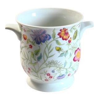 Floral Porcelain Cachepot For Sale