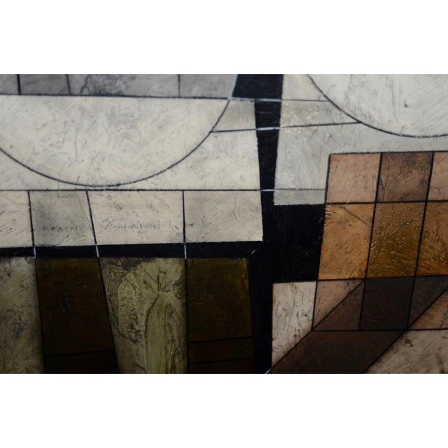 Modernist Abstract Oil Painting on Paper For Sale In San Francisco - Image 6 of 8