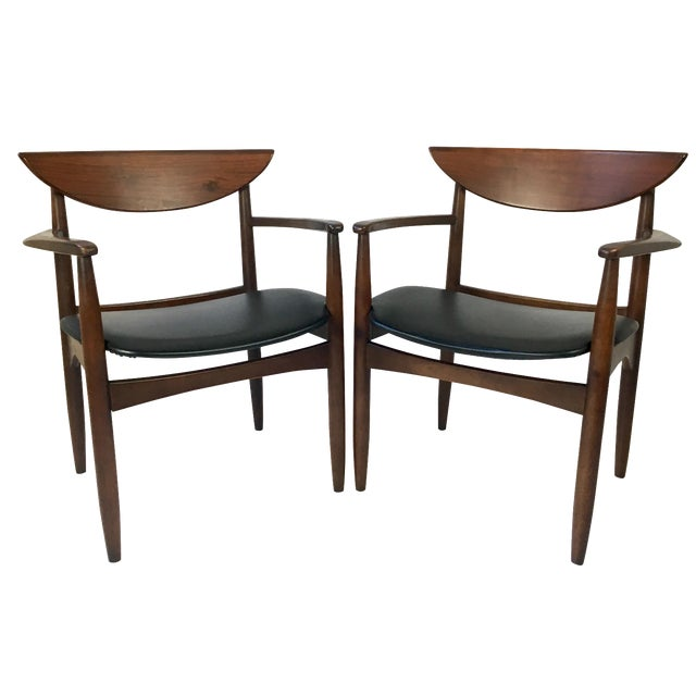 Lane Perception Modernist Armchairs - A Pair For Sale