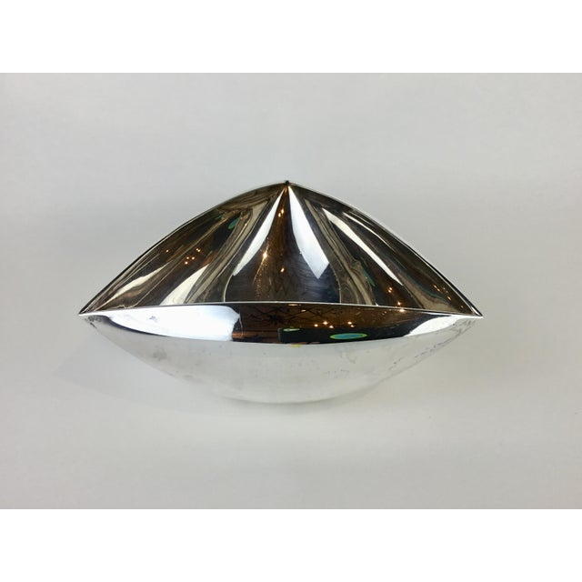 Italian Triangular Pampaloni Silver Plate Bowl For Sale - Image 11 of 11