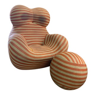 B&b Italia Gaetano Pesce La Mamma Chair and Ottoman For Sale