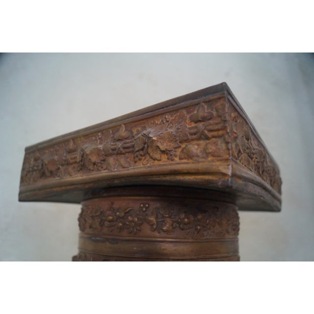 19th Century Brass Relief Neo Classical Pedestal - Image 7 of 10