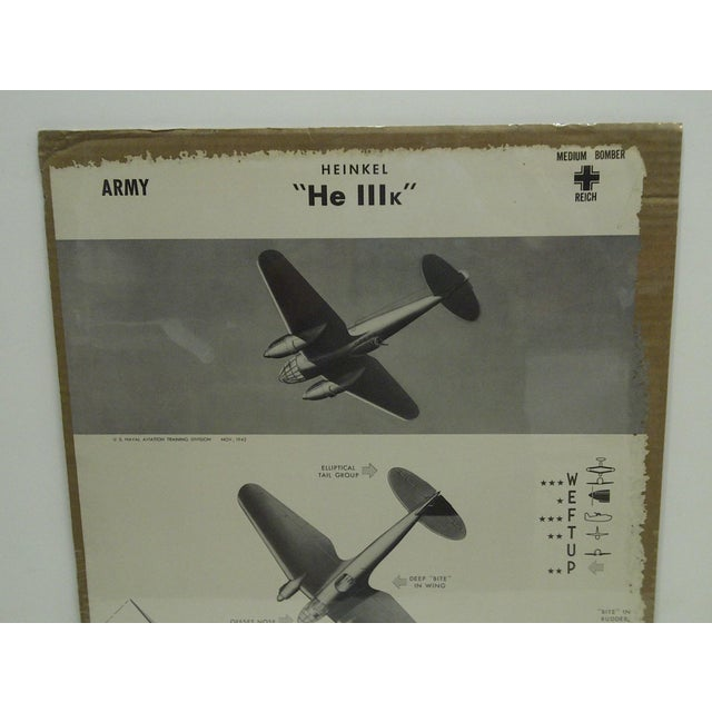 WWII Heinkel He 111k Aircraft Recognition Poster For Sale - Image 4 of 5