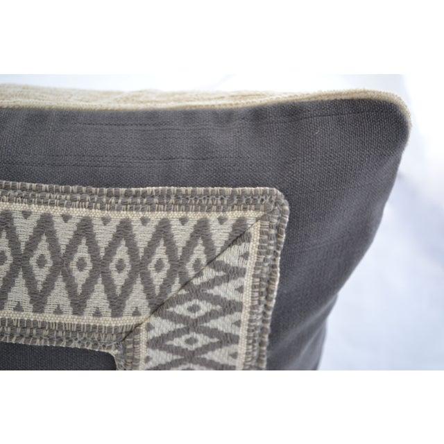 """Gray Velvet Custom Pillow - 22"""" x 12"""" - Image 4 of 6"""