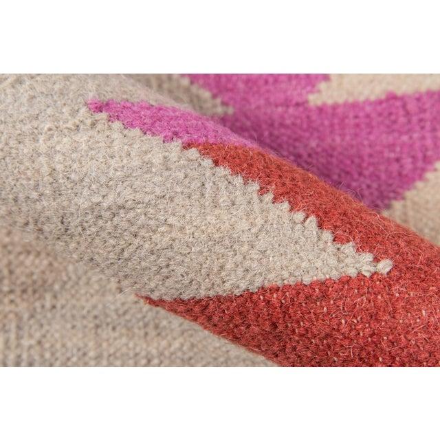 """2010s Momeni Caravan Hand Woven Multi Wool Runner - 2'3"""" X 8' For Sale - Image 5 of 7"""