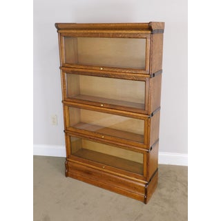 Antique Oak 4 Stack Barristers Bookcase Preview