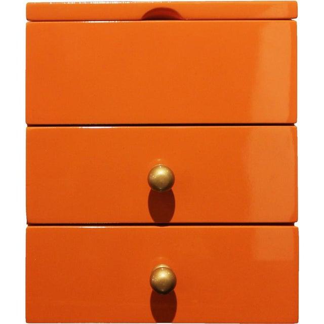 Orange 2-Drawer Jewelry Box - Image 3 of 4