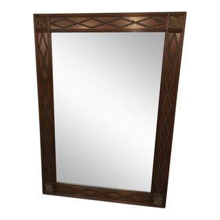 Large Antique Mirror With Wooden Trim