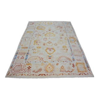 Contemporary Turkish Hand-Knotted Wool Rug For Sale