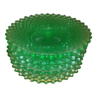 1930s Uranium Depression Glass Plates - Set of 6 For Sale