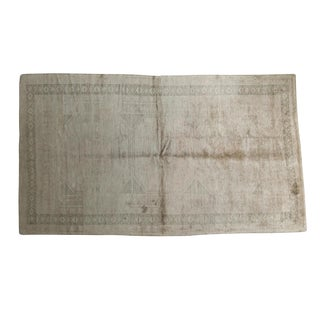 "Vintage Distressed Oushak Carpet - 5'3"" X 9'2"""
