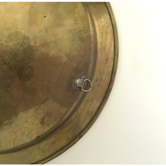 1980s Tribal Mixed Metal Design Tray For Sale - Image 4 of 6