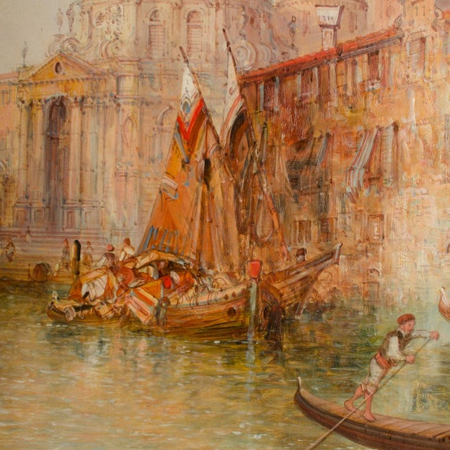 "Green 19th Century ""Venice in July"" Cityscape Oil Painting by Alfred Pollentine For Sale - Image 8 of 12"