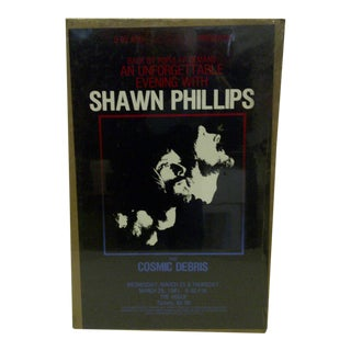 """1981 Vintage """"Shawn Phillips"""" Indianapolis Concert Poster For Sale"""