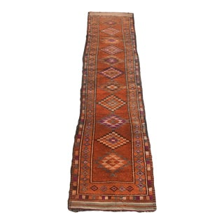 Hand Made Vintage Turkish Runner- 2′9″ × 10′4″ For Sale