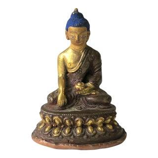 Asian Thai Gold Gilt Bronze Buddha Sculpture, circa 19th Century For Sale