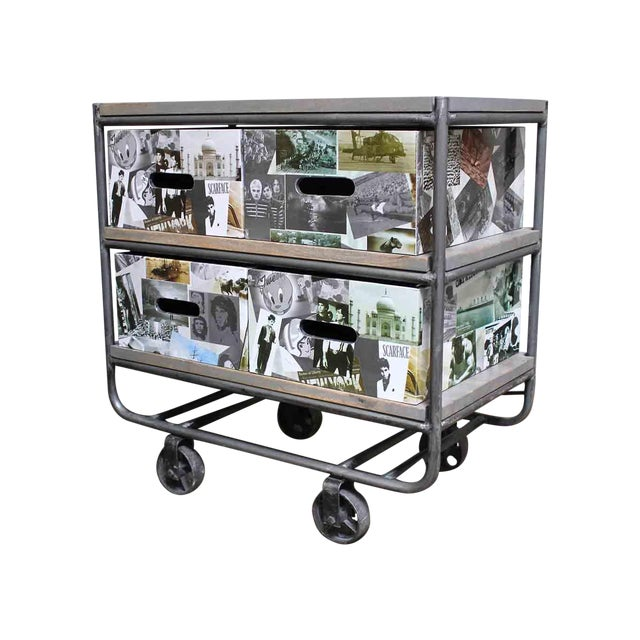 Photo Collage 2-Tier IronTrolley with Storage - Image 1 of 6
