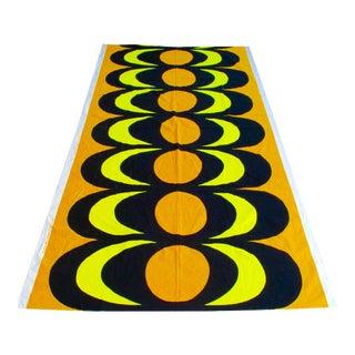 1965 Vintage Marimekko Orange Yellow Maija Isola Fabric - 3 Yards - Huge Piece For Sale